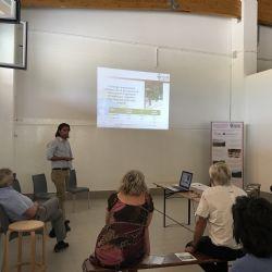 Tommaso Frioni (Unicatt) con la presentazione sui vitigni minori del territorio piacentin